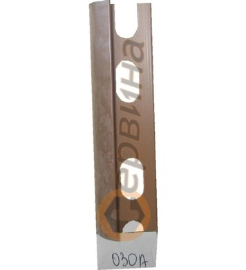 Ъглова външна лайсна PVC 8мм. 2,5м. 030A