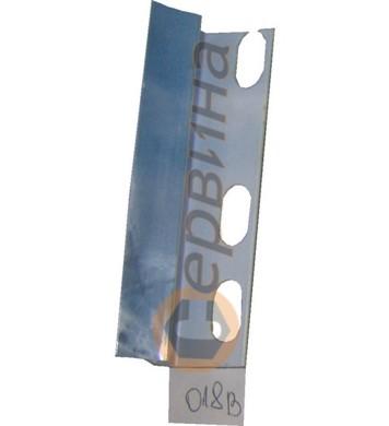 Ъглова вътрешна лайсна PVC 8мм. 2,5м. 018B