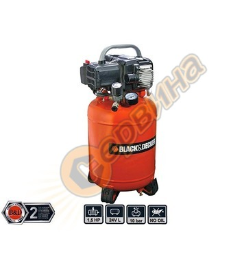 Компресор Black&Decker BD 195/24V - 24л/10бара