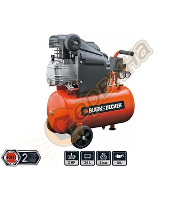 Компресор Black&Decker BD205/24 - 24л / 8бара