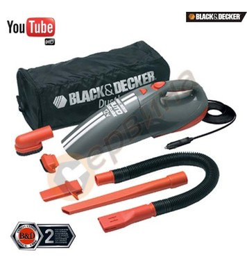 Мини автомобилна прахосмукачка Black&Decker ACV1205 - 12V
