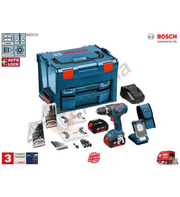 Акумулаторен винтоверт Bosch GSR 14.4 V-LI + Фенер GLI VariL
