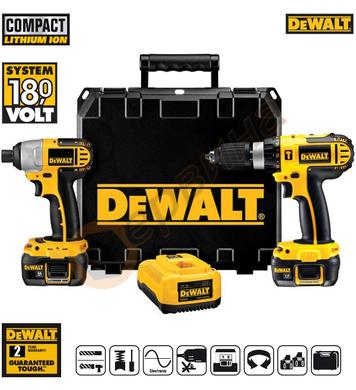 Комплект акумулаторни винтоверти DeWalt DCX4245 - 18V/1.1Ah