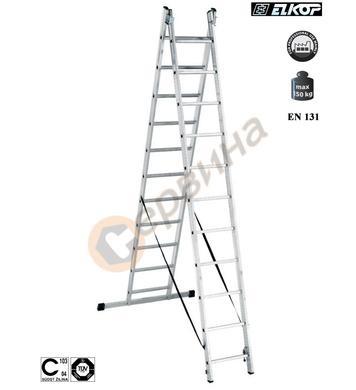 Алуминиева двураменна стълба Elkop VHR Т - 2x9бр