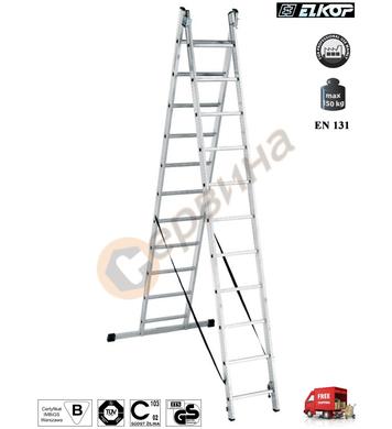 Алуминиева двураменна стълба Elkop VHR P - 2x17бр