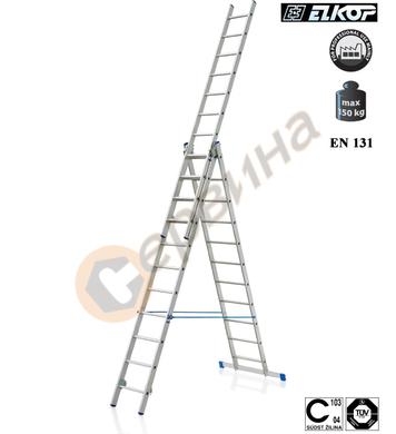 Алуминиева трираменна стълба Elkop VHR T - 3x9бр