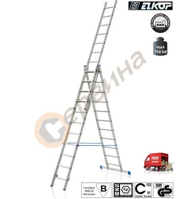 Алуминиева трираменна стълба Elkop VHR H - 3x12бр