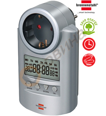 Реле за време с LCD дисплей Brennenstuhl DT 20 1507500