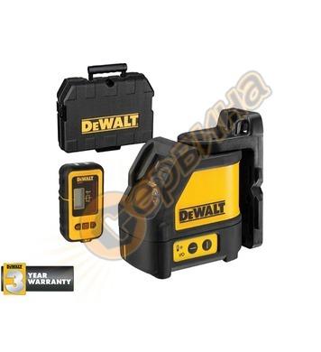 Лазерен нивелир DeWalt DW088KD + Детектор за разстояние DeWa