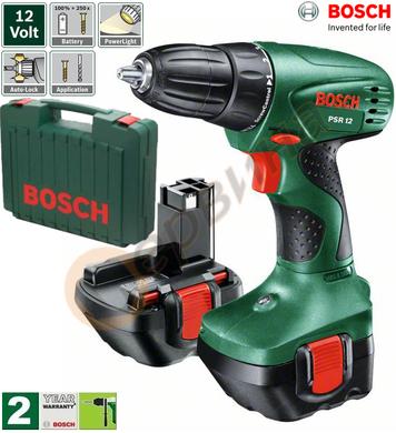Акумулаторен винтоверт Bosch PSR 0603955521 - 12V/1.2Ah NiCD