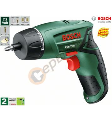 Акумулаторен винтоверт Bosch PSR 7.2Li-Ion 0603957720 - 7.2V