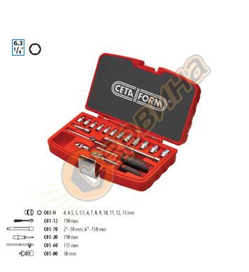 Комплект гедоре Ceta Form 1/4 C00-18PH2 - 18части 29080