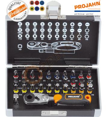 Комплект накрайници с тресчотка Projahn 4095 - 33бр