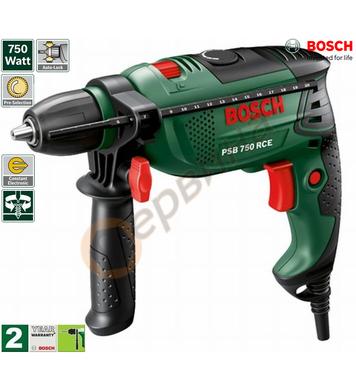 Ударна бормашина Bosch PSB 750 RCE 0603128520 - 750W