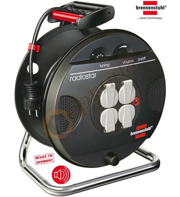 Разклонител - макара с кабел и радио Brennenstuhl Garant 120