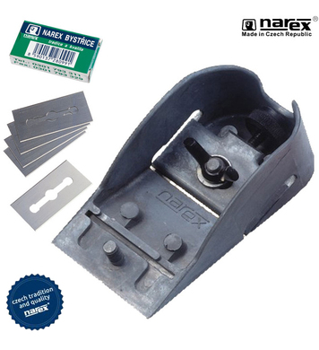 Комплект метално дърводелско ренде Narex 8280 00 - 102мм
