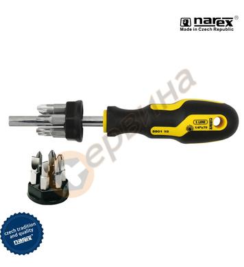 Ръкохватка с накрайници Narex 8801 10 - 13бр.