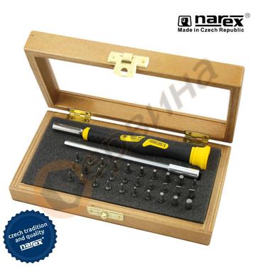 Комплект ръкохватка с накрайници Narex 8501 10 - 32бр.