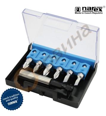 Комплект накрайник с битове Narex 8567 01 - 7бр.