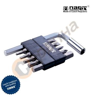 Комплект накрайник с битове Narex 8875 00 - 12бр.