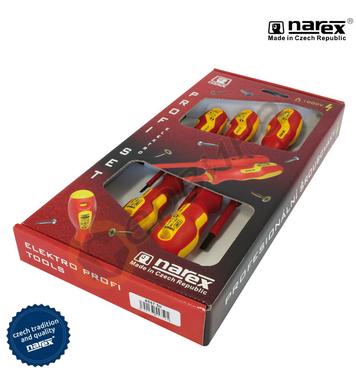 Комплект отвертки VDE 1000V Narex 8557 50 - 5бр.