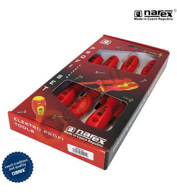 Комплект отвертки VDE 1000V Narex 8554 00 - 7бр.