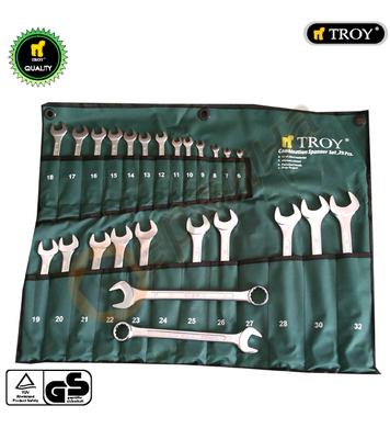 Комплект професионални звездогаечни ключове Troy T21525 DIN3