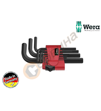 Вътрешни шестограми Wera 950 9 BM N 021737 - 9бр.