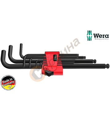 Вътрешни шестограми Wera 950 PKL 9 BM N 022086 - 9бр.