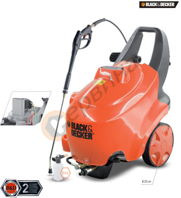Водоструйка/Пароструйка с топла вода Black&Decker PW3550HOT