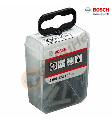 Накрайник за отвертка/бит Bosch PZ2 2608522187 - PZ2x25mm/25