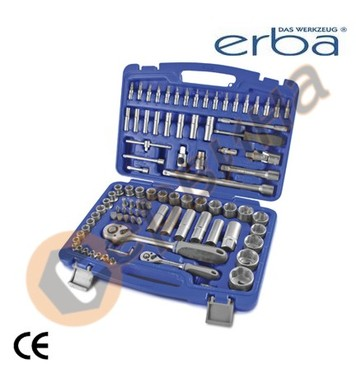 Комплект инструменти с тресчотка 1/2 и 1/4 ERBA ER03145 - 94