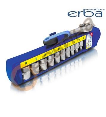 Комплект вложки 5-14мм с тресчотка 1/4 11части ERBA ER03203