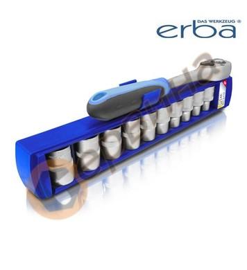 Комплект вложки 9-19мм с тресчотка 1/2 11части ERBA ER03204