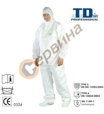 Гащеризон полипропилен антистатик SMS-68g/m2 Tidy TD44315