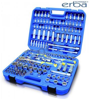 Комплект гедоре ERBA ER03149 1/2-3/8-1/4 - 155 части