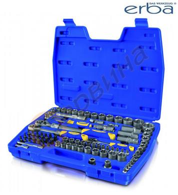 Комплект гедоре ERBA ER03143 1/2-3/8-1/4 - 94 части
