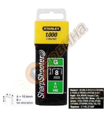 Кламер за такер тип G Stanley 1-TRA705-5T - 8мм/5000бр