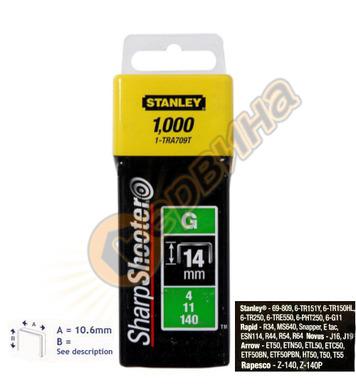 Кламер за такер тип G Stanley 1-TRA709-5T - 14мм/5000бр