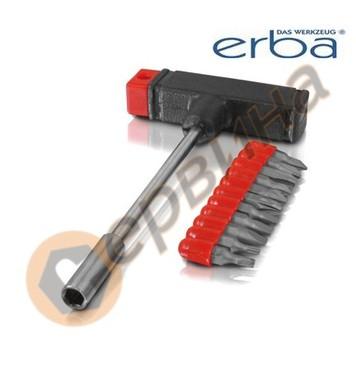 Т-образна ръкохватка с накрайници 12 части ERBA ER03124