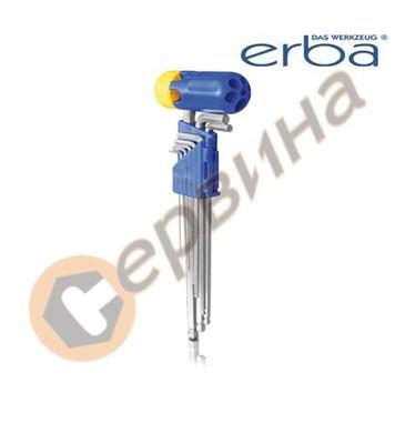 Комплект шестограми ябълковидни с Т-образна дръжка 9бр. ERBA