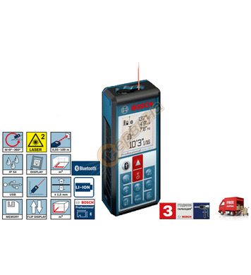 Лазерна ролетка Bosch GLM 100 C 0601072700 - 100м