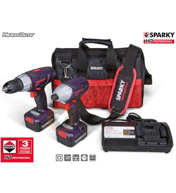 Комплект акумулаторни машини Sparky Twin Set 14.4V 130005003