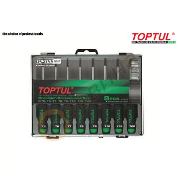 Комплект професионални отвертки за електроника Toptul GAAW08