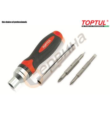 Тресчота ръкохватка с накрайници Toptul GAAR0402 - 8 части