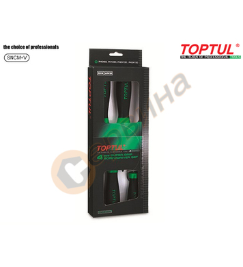 Комплект професионални отвертки Toptul GAAE0401 - 4бр