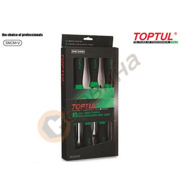 Комплект професионални ударни отвертки Toptul GAAE0605 - 6бр