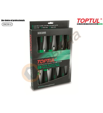 Комплект професионални отвертки Toptul GAAE0807 - 8бр
