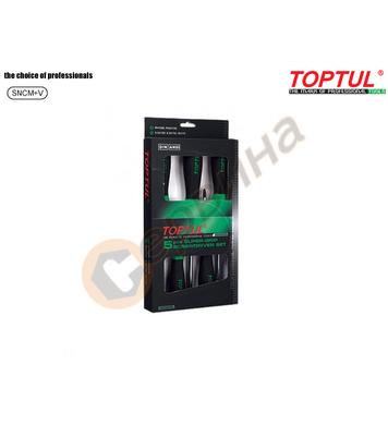 Комплект професионални отвертки Toptul GAAE0504 - 5бр