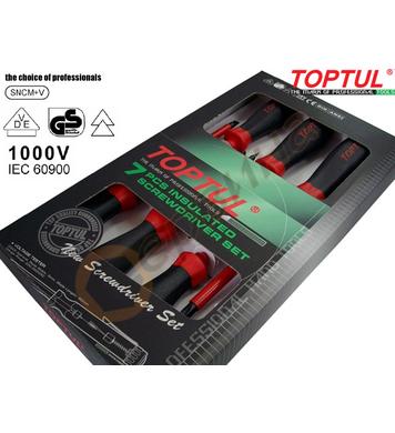 Комплект професионални отвертки Toptul GAAE0704 VDE 1000V -